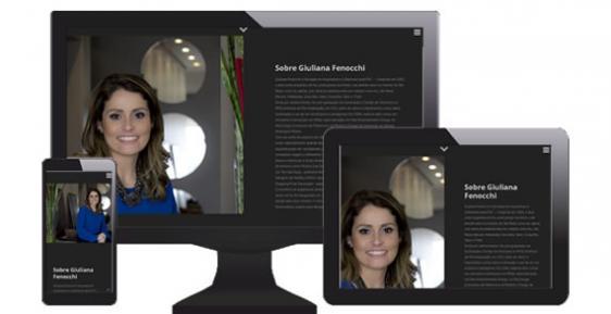 imagem representativa Criação do Site Giuliana Fenocchi