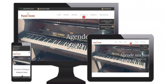 imagem representativa Criação do Novo Site Pianos Center