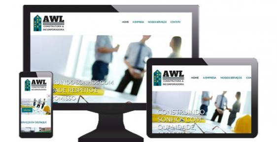 imagem representativa Criação do Site AWL Construtora