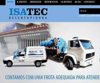 imagem representativa Criação do Site Isatec Desentupidora