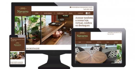 imagem representativa Criação do Site Marcenaria Navarro