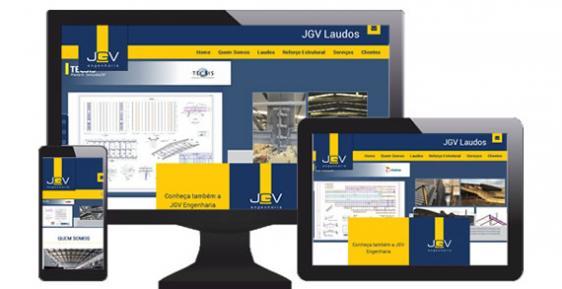 imagem representativa Criação do Site JGV Laudos