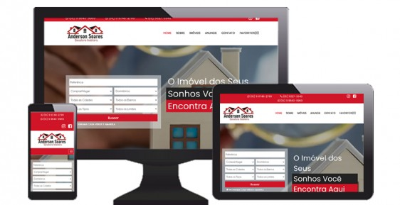 imagem representativa Criação de Site: Anderson Imobiliária